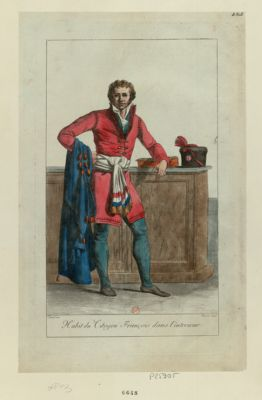 Habit du Citoyen François dans l'interieur [estampe]