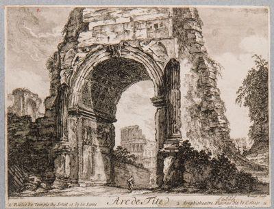 Arco di Tito prima del restauro