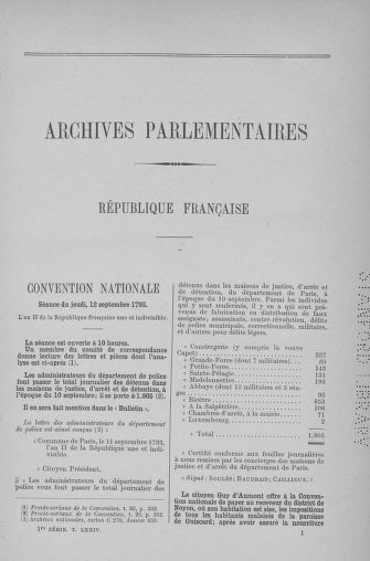 Tome 74 : Du 12 au 22 septembre 1793 - page 1