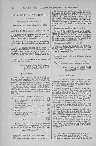 Tome 74 : Du 12 au 22 septembre 1793 - page 246