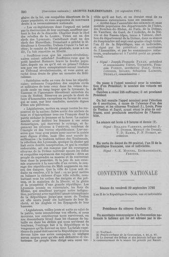Tome 74 : Du 12 au 22 septembre 1793 - page 500