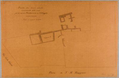 Pianta dei muri antichi rinvenuti nello scavo per la nuova Penitenzieria di Santa Maria Maggiore