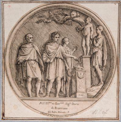 Arco di Costantino, medaglione, sacrificio dell'Imperatore