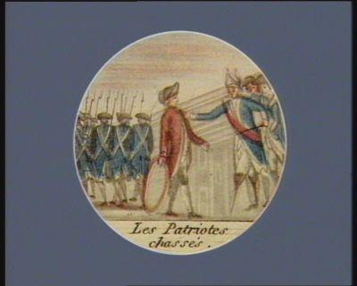 Les  Patriotes chassés [estampe]
