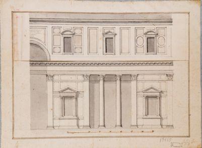 Pantheon. Interno, progetto di decorazione