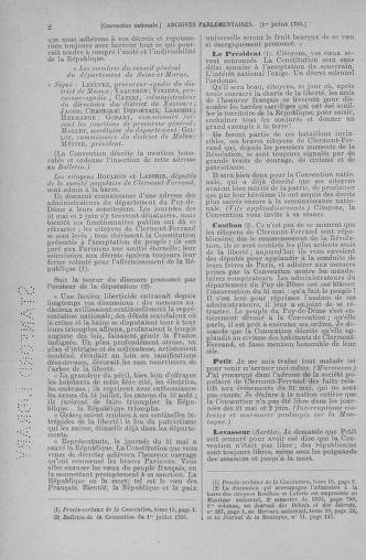 Tome 68 : Du 1er au 14 juillet 1793 - page 2