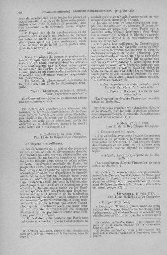 Tome 68 : Du 1er au 14 juillet 1793 - page 20