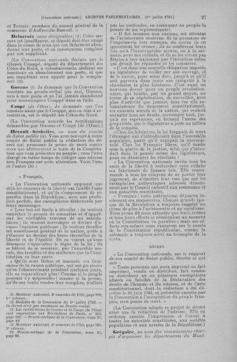 Tome 68 : Du 1er au 14 juillet 1793 - page 27