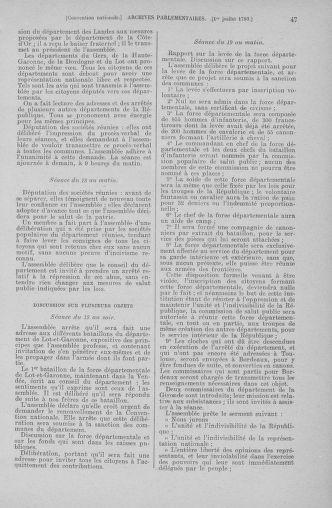 Tome 68 : Du 1er au 14 juillet 1793 - page 47