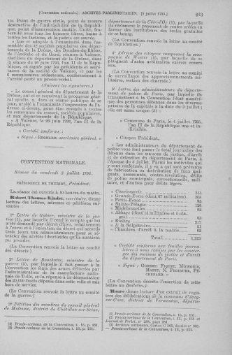 Tome 68 : Du 1er au 14 juillet 1793 - page 263