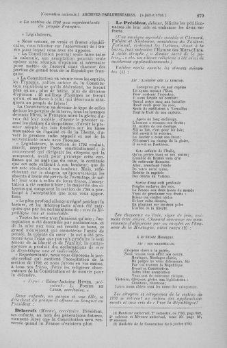 Tome 68 : Du 1er au 14 juillet 1793 - page 279