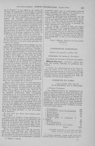 Tome 68 : Du 1er au 14 juillet 1793 - page 289