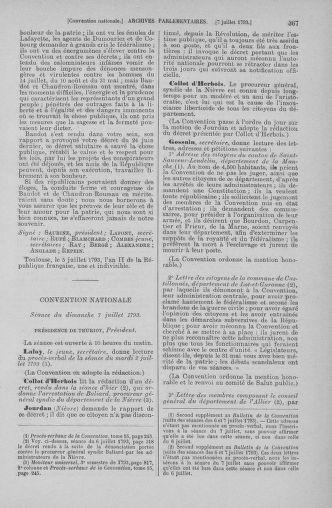 Tome 68 : Du 1er au 14 juillet 1793 - page 367