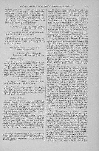 Tome 68 : Du 1er au 14 juillet 1793 - page 405