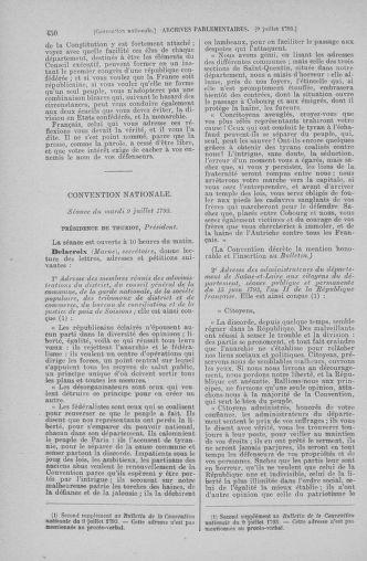 Tome 68 : Du 1er au 14 juillet 1793 - page 450