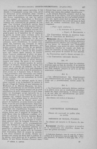 Tome 68 : Du 1er au 14 juillet 1793 - page 497