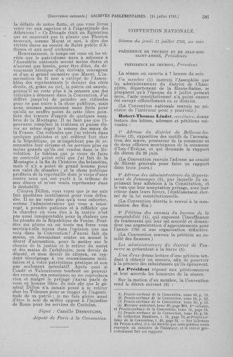 Tome 68 : Du 1er au 14 juillet 1793 - page 581