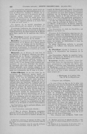 Tome 68 : Du 1er au 14 juillet 1793 - page 582