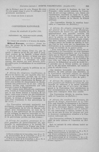 Tome 68 : Du 1er au 14 juillet 1793 - page 585