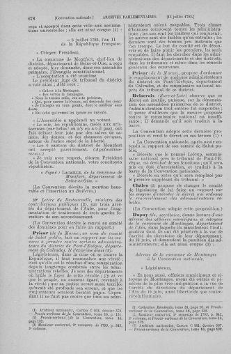 Tome 68 : Du 1er au 14 juillet 1793 - page 678