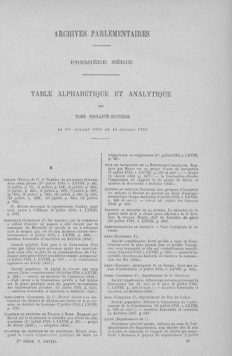 Tome 68 : Du 1er au 14 juillet 1793 - page ..