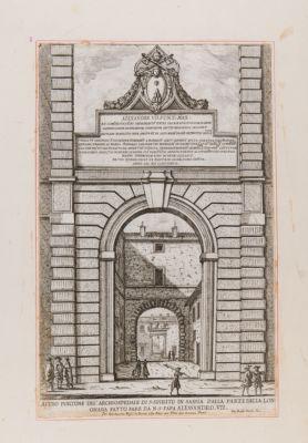 Ospedale di S. Spirito. Portale di Alessandro VII verso la Lungara