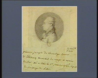 Pierre Joseph du Chambge baron d'Elbhecq maréchal des camps et armées du roi, né à Lille le 1.er janvier 1733, député du baillage de Lille : [dessin]