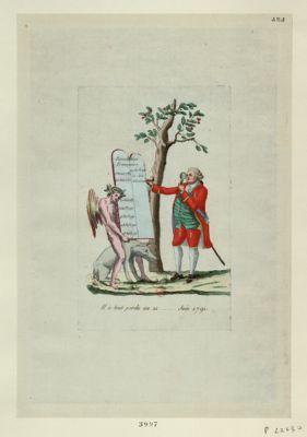Il a tout perdu au 21... juin 1791 [estampe]