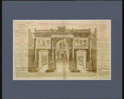 Le  Triomphe des Français du 14 juillet 1790 invocation, air : Avec les jeux dans le village... : [estampe]