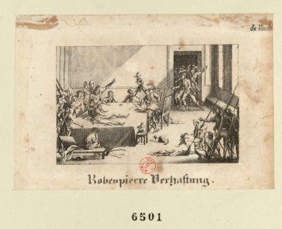 Robespierre Verhaftung [estampe]