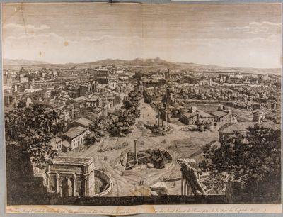 Vue du nord-est de Rome, prise de la Tour du Capitole
