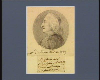 M. Fleury curé d'Ige, Glaise et Vilette licencié en théologie de la faculté député de Sedan [ ?] en 1789 : [dessin]