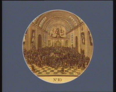 N.o 10 22 [i.e. 21] juin. Le Comte d'Artois s'étant emparé du <em>Jeu</em> <em>de</em> <em>Paume</em>... : [estampe]