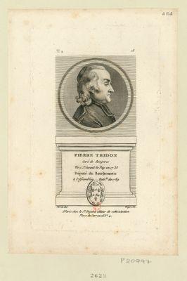 Pierre Tridon : curé de Rongeres né à St Gerand-le-Puy en 1738 député du Bourbonnois à l'Assemblée nati. le de 1789 : [estampe]