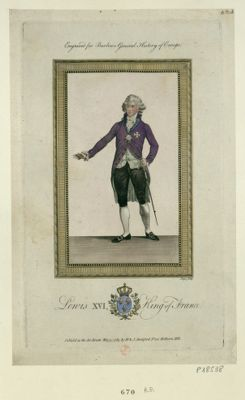 Louis XVI King of France engraved for Barlows General History of Europe : [estampe]
