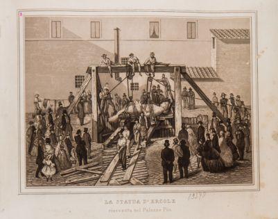 La statua d'Ercole rinvenuta nel Palazzo Pio