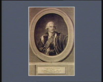 Stanislas-Auguste roi de Pologne né à Vollenzyn en Lithuanie le 17 janvier <em>1732</em> élu à Varsovie le 7 septembre 1764 et mort à St Petersbourg le 1 fevrier <em>1798</em>... : [estampe]