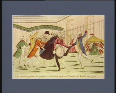 Une grande partie du peuple a été témoin du juste châtiment de <em>l'abbé</em> insolent [estampe]