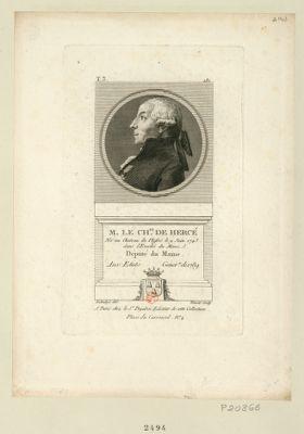 M. le ch.er de Hercé député du Maine aux Etats génér.x de 1789 : [estampe]