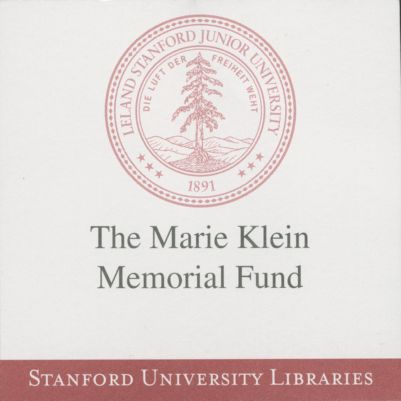 The Marie Klein Memorial Fund