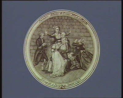Derniers adieux de Louis XVI à sa famille décapité à Paris le 21 janvier 1793 [estampe]