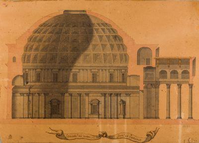 Spaccato del dentro e del fuori del Pantheon