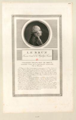 Le  Brun troisième Consul de la Republique française [estampe]