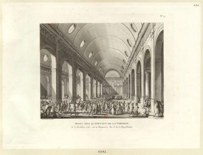 Mort des 21 députés de la Gironde le 31 octobre 1793, ou 10 brumaire an 2.<em>e</em> de la République : [estampe]
