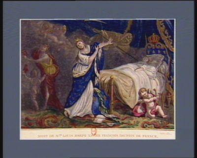 Mort de Mgr <em>Louis</em> Joseph Xavier François dauphin de France né à Versailles, le 22 octobre 1781, décédé au château de Meudon, le 4 juin 1789, dans la 8.e année de son âge : [estampe]