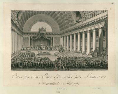 Ouverture des Etats généraux par Louis seize à Versailles le 5 Mai 1789 : [estampe]