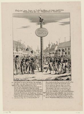 Bospräch eines Juden zu Cassel bey Mäynz mit einem eingebildeten Freyheits Mann über den Freyheitsbaum im Jänner 1793 [estampe]