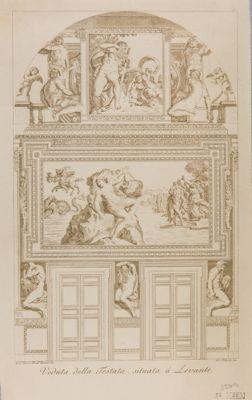 Palazzo Farnese. Galleria, parete di fondo con la figura di Andromeda