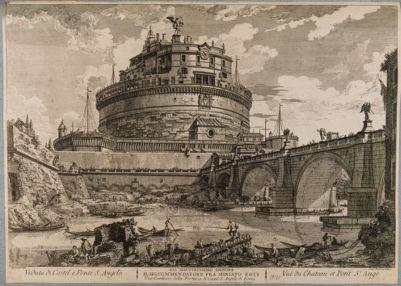 Veduta di Castel S. Angelo e ponte Elio
