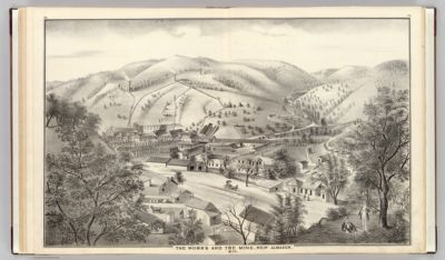 The works and the mine, New Almaden, 1876. Smith C.L., S.F. (Published by             Thompson & West, San Francisco)